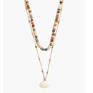 [Madewell] Beaded Shell Layered Necklace